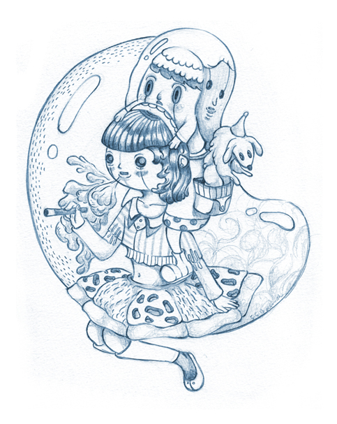Sketch - Bubble Girl